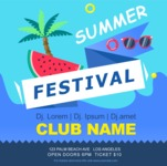 Summer Vector Graphics - Mega Bundle - Vector Summer Festival Poster Template