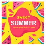 Summer Vector Graphics - Mega Bundle - Sweet Watermelon Poster Template for Summer
