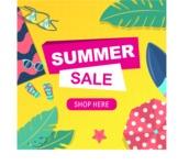 Summer Vector Graphics - Mega Bundle - Modern Shapes Summer Sale Flyer Template