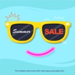 Summer Vector Graphics - Mega Bundle - Summer Sale Vector Poster with Sunglasses