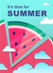 Summer Vector Graphics - Mega Bundle - Summer Time Watermelon Poster Template