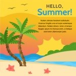 Summer Vector Graphics - Mega Bundle - Hot Summer Poster Template with Beach and Palms