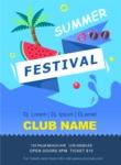 Summer Vector Graphics - Mega Bundle - Vector Summer Festival Flyer Template