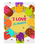 Summer Vector Graphics - Mega Bundle - Summer Ice Cream Vector Poster Template