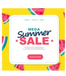 Summer Vector Graphics - Mega Bundle - Summer Sale Vector Banner Template