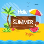 Summer Vector Graphics - Mega Bundle - Modern Summer Beach Poster