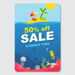 Summer Vector Graphics - Mega Bundle - Hot Summer Sale Banner Design Template