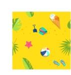 Summer Vector Graphics - Mega Bundle - Seamless Vector Beach Pattern
