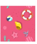 Summer Vector Graphics - Mega Bundle - Seamless Vector Pattern with Summer Beach Elements