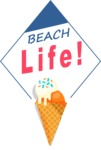 Summer Vector Graphics - Mega Bundle - Vector Beach Logo Design with Ice Cream