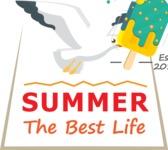 Summer Vector Graphics - Mega Bundle - Summer Vector Logo Design with Seabird