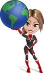 Girl with Superpowers Cartoon Vector Character AKA Jade Nitro - Earth
