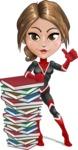 Girl with Superpowers Cartoon Vector Character AKA Jade Nitro - Books 1