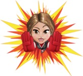 Girl with Superpowers Cartoon Vector Character AKA Jade Nitro - Shape 3