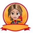 Girl with Superpowers Cartoon Vector Character AKA Jade Nitro - Shape 4