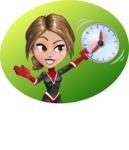 Girl with Superpowers Cartoon Vector Character AKA Jade Nitro - Shape 5