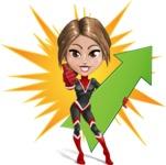 Girl with Superpowers Cartoon Vector Character AKA Jade Nitro - Shape 7