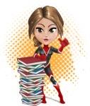 Girl with Superpowers Cartoon Vector Character AKA Jade Nitro - Shape 11