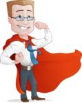 Businessman with Superhero Cape Cartoon Vector Character - Normal