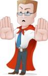 Businessman with Superhero Cape Cartoon Vector Character - Stop 1