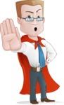 Businessman with Superhero Cape Cartoon Vector Character - Stop 2