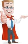 Businessman with Superhero Cape Cartoon Vector Character - Show 1