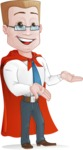 Businessman with Superhero Cape Cartoon Vector Character - Show 4