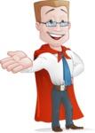 Businessman with Superhero Cape Cartoon Vector Character - Show 5