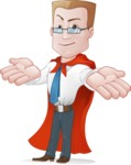 Businessman with Superhero Cape Cartoon Vector Character - Lost