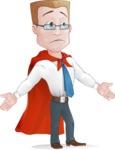 Businessman with Superhero Cape Cartoon Vector Character - Show 6