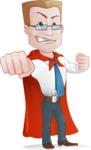Businessman with Superhero Cape Cartoon Vector Character - Repair