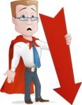 Businessman with Superhero Cape Cartoon Vector Character - Arrow 3