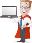 Businessman with Superhero Cape Cartoon Vector Character - Notebook 1