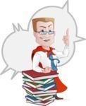 Businessman with Superhero Cape Cartoon Vector Character - Shape 5