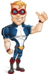 Superhero with Mask Cartoon Vector Character AKA Buff Jaxon - Normal