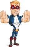 Superhero with Mask Cartoon Vector Character AKA Buff Jaxon - Stop1