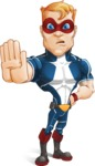 Superhero with Mask Cartoon Vector Character AKA Buff Jaxon - Stop 2