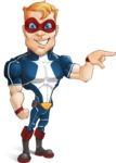 Superhero with Mask Cartoon Vector Character AKA Buff Jaxon - Point1
