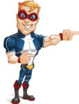 Superhero with Mask Cartoon Vector Character AKA Buff Jaxon - Point 2