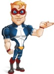 Superhero with Mask Cartoon Vector Character AKA Buff Jaxon - Show 2