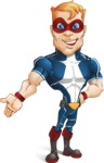 Superhero with Mask Cartoon Vector Character AKA Buff Jaxon - Show 3