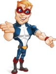Superhero with Mask Cartoon Vector Character AKA Buff Jaxon - Show 4