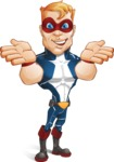 Superhero with Mask Cartoon Vector Character AKA Buff Jaxon - Show 6