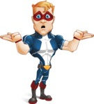 Superhero with Mask Cartoon Vector Character AKA Buff Jaxon - Lost 2