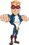 Superhero with Mask Cartoon Vector Character AKA Buff Jaxon - Punch
