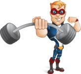 Superhero with Mask Cartoon Vector Character AKA Buff Jaxon - Fitness