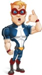 Superhero with Mask Cartoon Vector Character AKA Buff Jaxon - Support