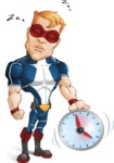 Superhero with Mask Cartoon Vector Character AKA Buff Jaxon - Time to Sleep