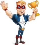 Superhero with Mask Cartoon Vector Character AKA Buff Jaxon - Winner