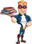 Superhero with Mask Cartoon Vector Character AKA Buff Jaxon - Books 2